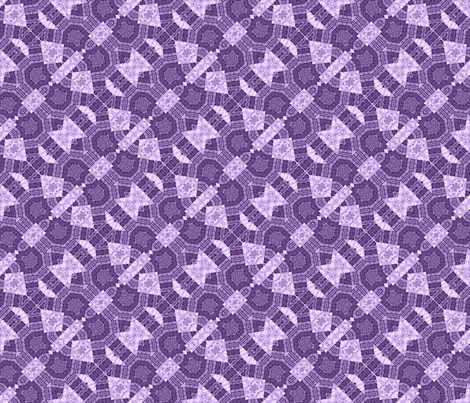 Patchwork in Purple: Busy Bits fabric by tallulahdahling on Spoonflower - custom fabric