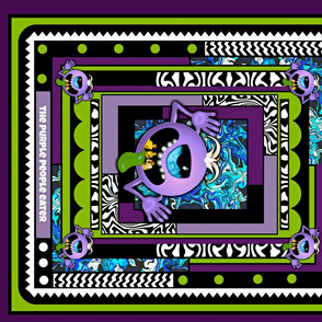 "The Purple People Eater 21"" quilting block"