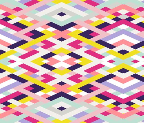 Smart Diagonals Blue fabric by jennamhairi on Spoonflower - custom fabric