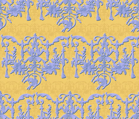 1892 Bird On A Wire Damask ~ French Provencal fabric by peacoquettedesigns on Spoonflower - custom fabric