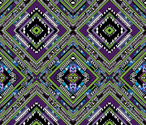 Bride Of Purple People Eater  fabric by whimzwhirled on Spoonflower - custom fabric
