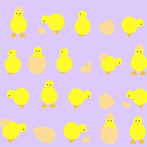 easter_chicks_on_lilac