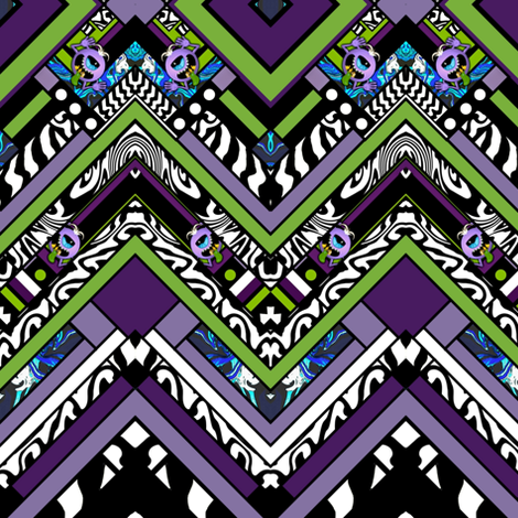 Purple People Eater Chevron fabric by whimzwhirled on Spoonflower - custom fabric