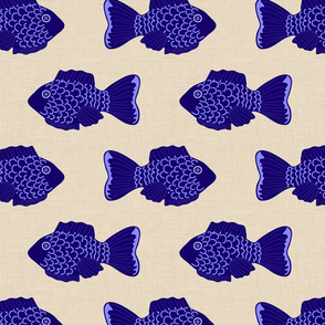 indigo_fish_on_natural_linen