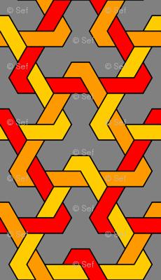 interlocking triangles x3