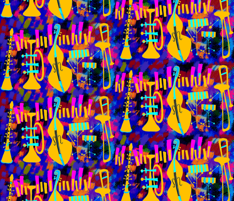 and all that Jazz fabric by weejock on Spoonflower - custom fabric