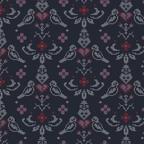 broken heart fabric by lilliblomma on Spoonflower - custom fabric