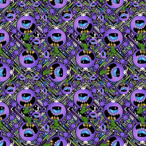 Ditzy purple people eater stripes