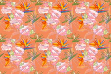 Conch A Doodle Doo fabric by lulabelle on Spoonflower - custom fabric