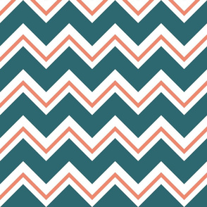 chevron_dark_teal_and_salmon