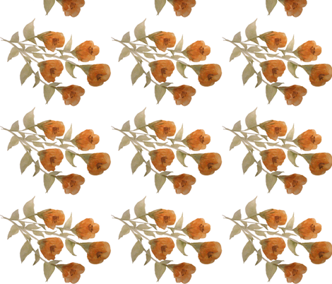 Golden Floral Rose - Fabric fabric by suechisholm on Spoonflower - custom fabric