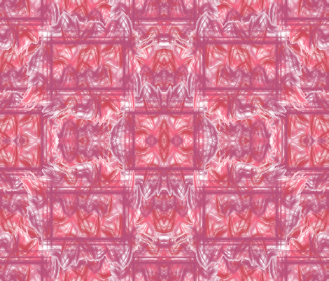 Framed Fire in Shades of Pink, Red, and Mauve fabric by anniedeb on Spoonflower - custom fabric