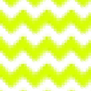 Liquid Chevron Pixels - Chartreuse