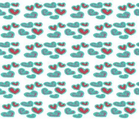 Shaggy Hearts fabric by anniedeb on Spoonflower - custom fabric