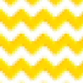 Liquid Chevron Pixels - Gold