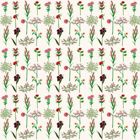 garden party bouquet fabric by frumafar on Spoonflower - custom fabric