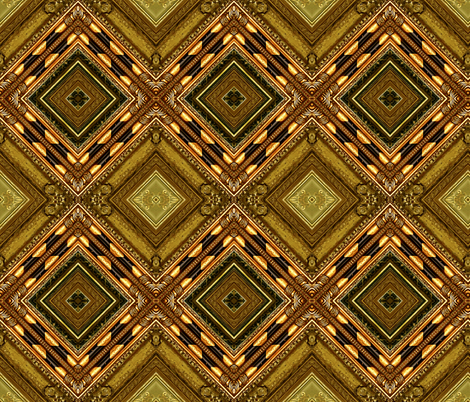 Golden Harlequin fabric by whimzwhirled on Spoonflower - custom fabric