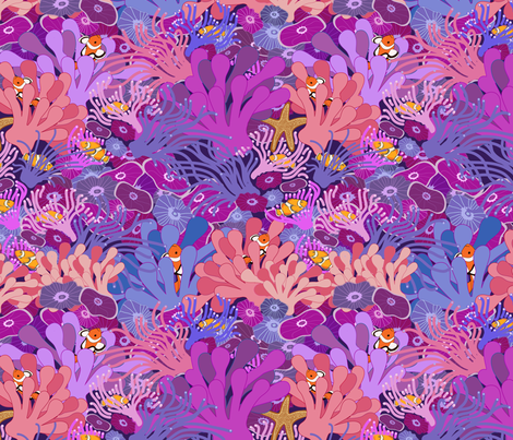 Block Party on the Reef fabric by shellypenko on Spoonflower - custom fabric