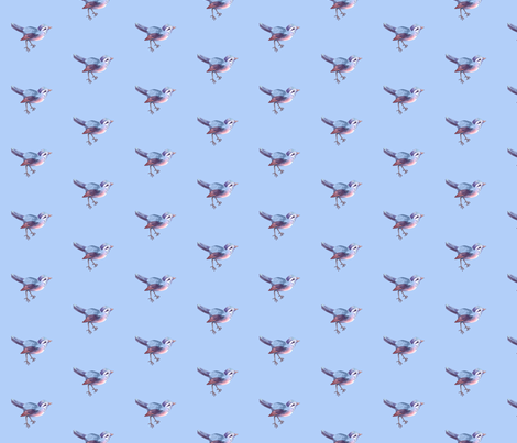 Song Bird in Periwinkle Blue fabric by thistleandfox on Spoonflower - custom fabric