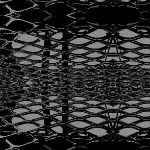Retro Lace Large - Licorice-ch