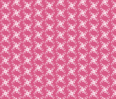 OISEAUX_SUR_BRANCHE_rose_2 fabric by aliceandcodesigns on Spoonflower - custom fabric