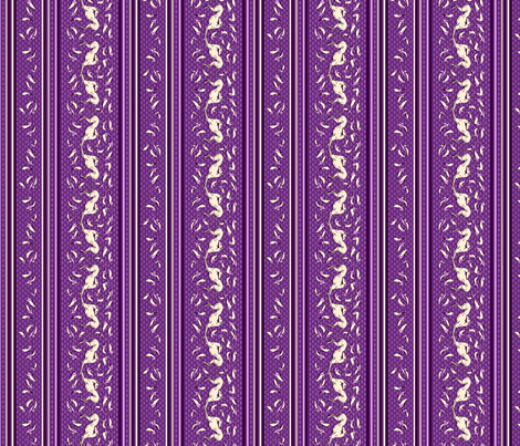 Art Nouveau Greyhounds, purple and cream fabric by artbyjanewalker on Spoonflower - custom fabric