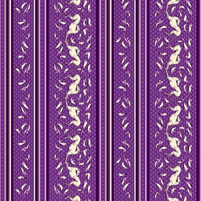 Art Nouveau Greyhounds, purple and cream