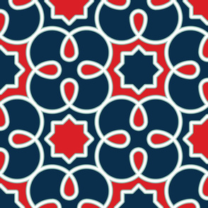 Geometric Loopy - Blue and Red