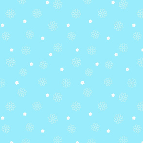 white_spring_flowers_on_blue