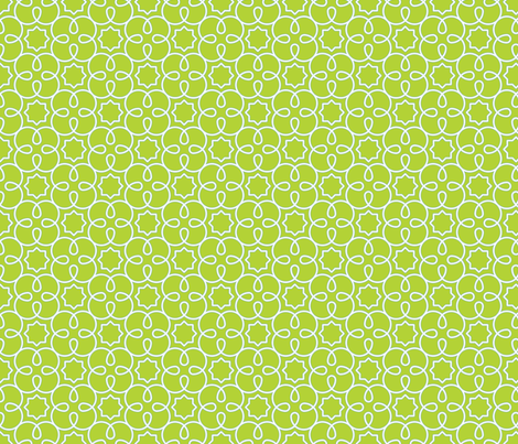 Geometric Loopy - Green - Quilting Scale fabric by anntuck on Spoonflower - custom fabric
