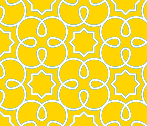 Geometric Loopy - Yellow fabric by anntuck on Spoonflower - custom fabric
