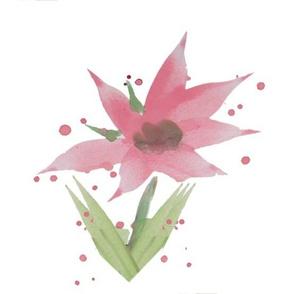 Daisy Breeze Large Pink - Fabric