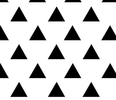 Black Triangles fabric by hipkiddesigns on Spoonflower - custom fabric