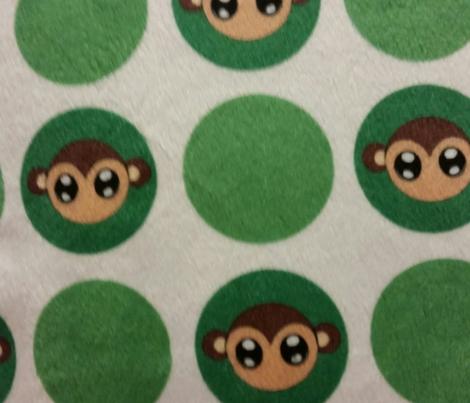 Green Small Monkey Polka Dots