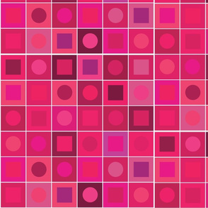 checkers - medium fushia