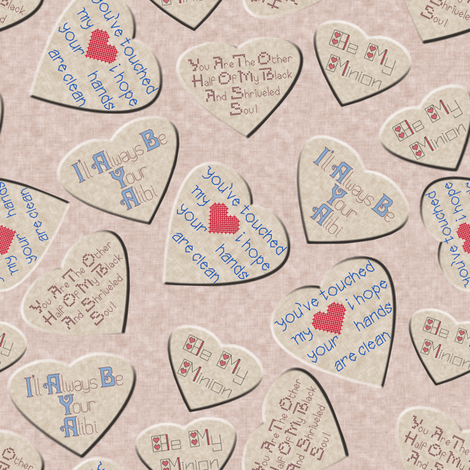 Anti Valentine fabric by eclectic_house on Spoonflower - custom fabric