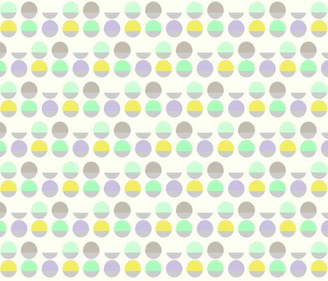 two_tone_circles with yellow fabric by pip_pottage on Spoonflower - custom fabric