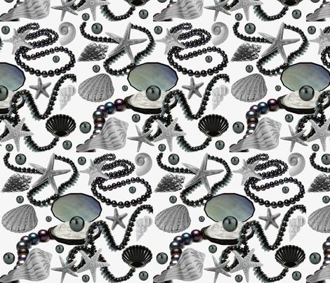 BLACK PEARLS fabric by bluevelvet on Spoonflower - custom fabric