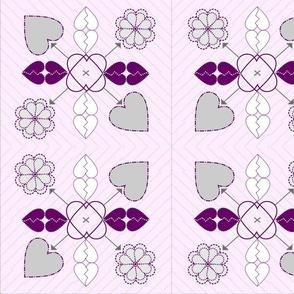 love-hate cross stitch