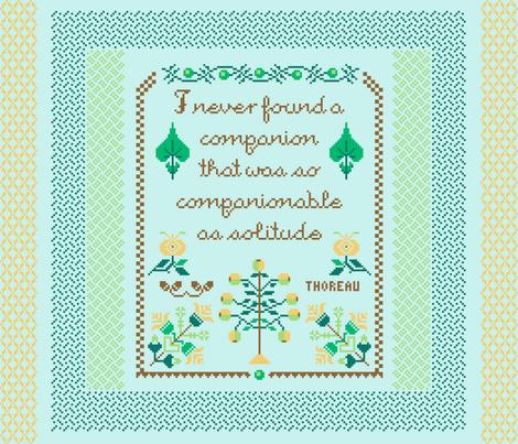 Companionable Solitude FQ Panel fabric by mongiesama on Spoonflower - custom fabric