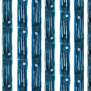 bamboo blue stripes