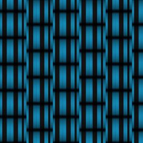 Blue Black Basketweave