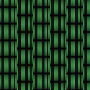 Green Black Basketweave