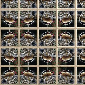 Mushroom collage postage stamp