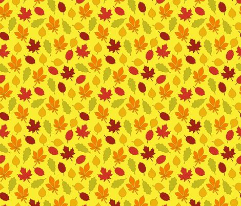Fall Leaves fabric by alenkas on Spoonflower - custom fabric