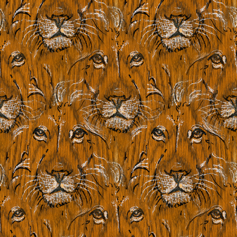 Oak Lion fabric by eclectic_house on Spoonflower - custom fabric