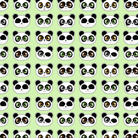 Panda Expressions fabric by jannasalak on Spoonflower - custom fabric