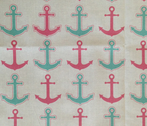 Anchor's Away! Pink and Aqua