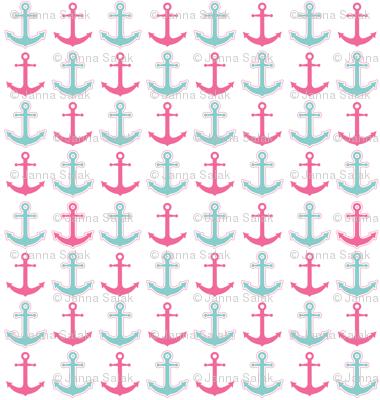 Anchor's Away! Pink and Aqua