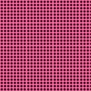 polka_dots_dark brown_on_pink